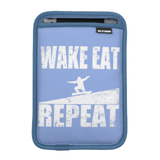 Wake Eat Snowboard Repeat #2 (wht) iPad Mini Sleeve