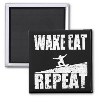 Wake Eat Snowboard Repeat #2 (wht) Magnet