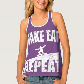 Wake Eat Snowboard Repeat #2 (wht) Singlet