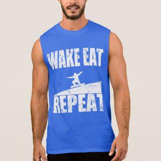 Wake Eat Snowboard Repeat #2 (wht) Sleeveless Shirt