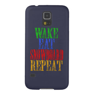 WAKE EAT SNOWBOARD REPEAT GALAXY S5 CASES