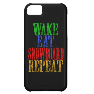 WAKE EAT SNOWBOARD REPEAT iPhone 5C CASE