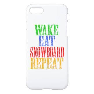 WAKE EAT SNOWBOARD REPEAT iPhone 7 CASE