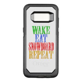 WAKE EAT SNOWBOARD REPEAT OtterBox COMMUTER SAMSUNG GALAXY S8 CASE
