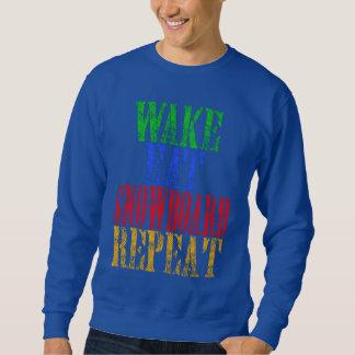 WAKE EAT SNOWBOARD REPEAT SWEATSHIRT