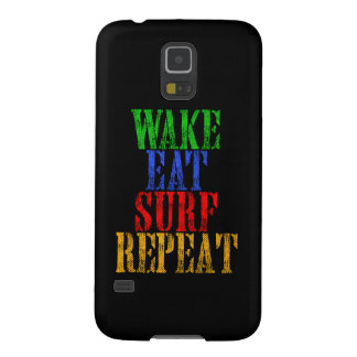 WAKE EAT SURF REPEAT GALAXY S5 CASE