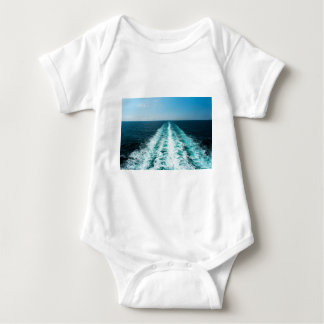 Wake From a Cruise Ship Baby Bodysuit