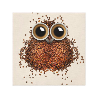 Wake Me Up, Wise Owl Canvas Print