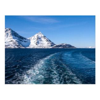 Wake of a ship postcard