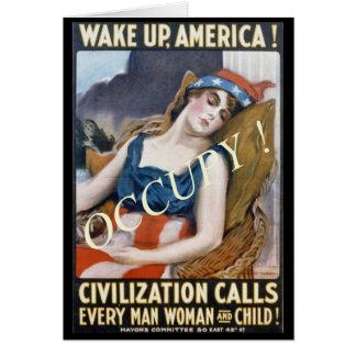 WAKE UP, AMERICA ! OCCUPY ! CARD