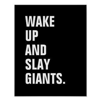 Wake Up and Slay Giants Poster