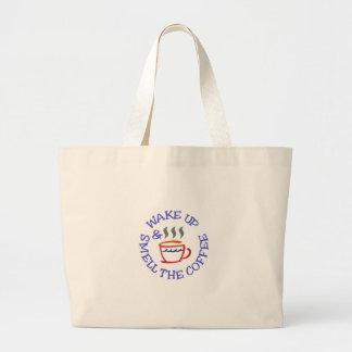 Wake Up Coffee Jumbo Tote Bag