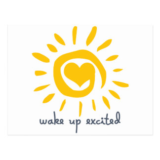 Wake Up Excited Postcard