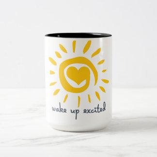 Wake Up Excited Two-Tone Mug