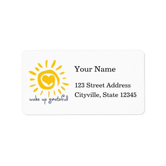 Wake Up Grateful Address Label