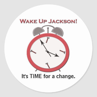 WAKE UP JACKSON small Round Sticker