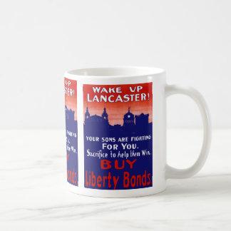 Wake Up Lancaster Basic White Mug