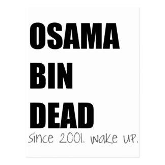 Wake Up! OSAMA BIN DEAD Postcard
