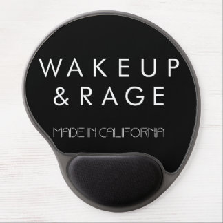 Wake up & Rage mouse pad-black Gel Mouse Pad