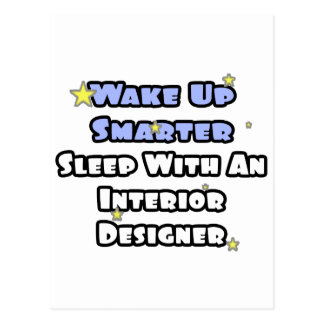 Wake Up Smarter...Sleep With an Interior Designer Postcard