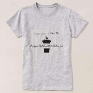 Wake up & smell coffee T-shirt design
