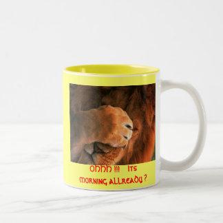 wake up Two-Tone coffee mug