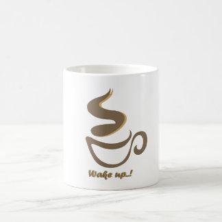 wake up with a coffee coffee mug
