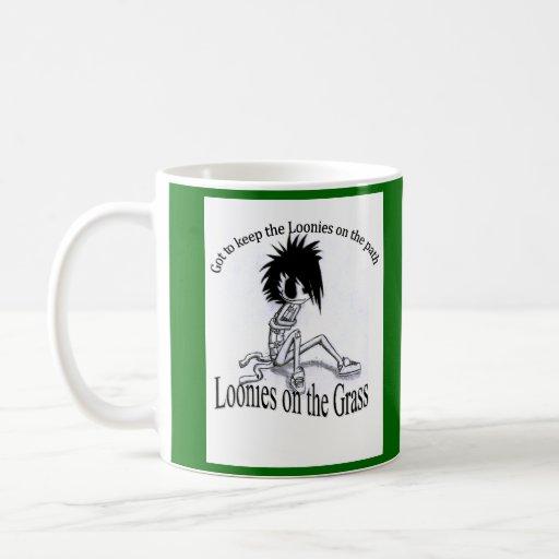 Wake Up with Loonies on the Grass Coffee Mug