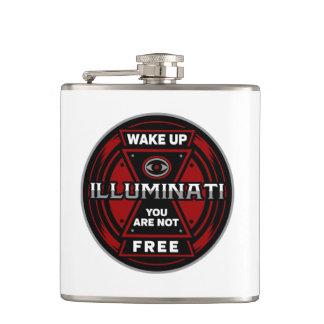 Wake Up You Are Not Free Illuminati Hip Flask