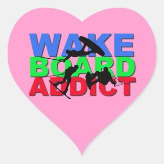 Wakeboard Addict Heart Sticker