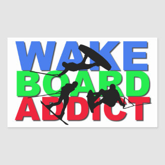 Wakeboard Addict Rectangular Sticker