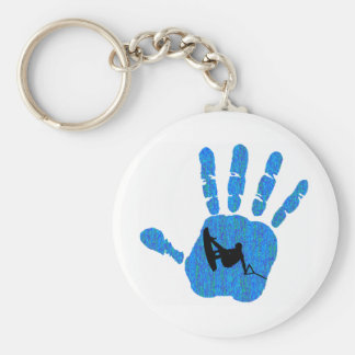 Wakeboard All Waters Basic Round Button Key Ring