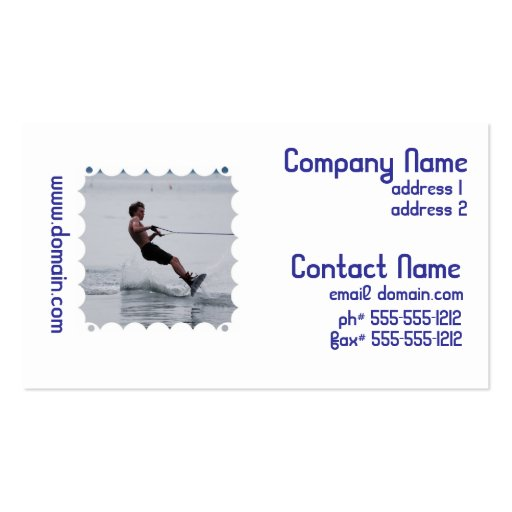 Wakeboard Angle Business Cards