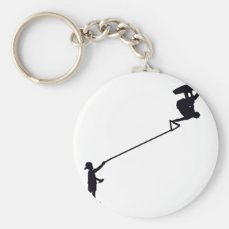 Wakeboard Boy Basic Round Button Key Ring