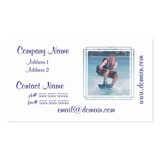 Wakeboard Crouch Business Card Template
