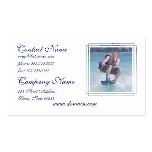 Wakeboard Crouch Business Card