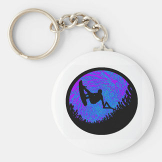 Wakeboard Deciding Factor Basic Round Button Key Ring