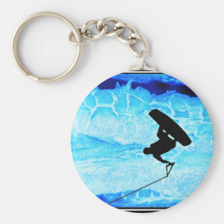 wakeboard Ice Basic Round Button Key Ring