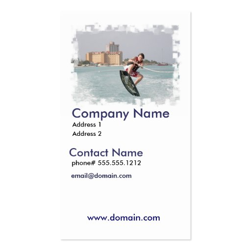 Wakeboard Jump Business Card