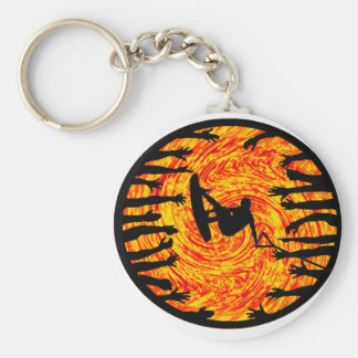 Wakeboard Need Water Basic Round Button Key Ring