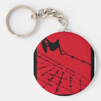 Wakeboard RED Alert Keychains