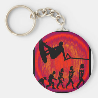 Wakeboard Solving Evolution Basic Round Button Key Ring