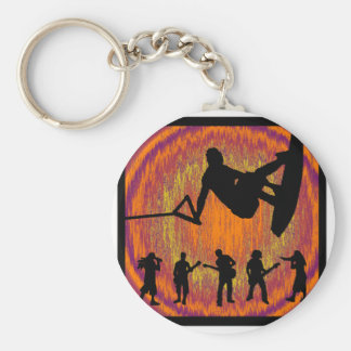 Wakeboard Soul Diver Basic Round Button Key Ring