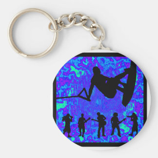 Wakeboard Soul Screen Basic Round Button Key Ring