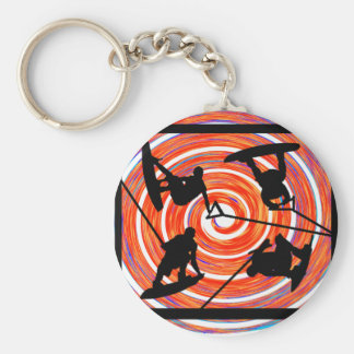 Wakeboard Sound Tronic Basic Round Button Key Ring
