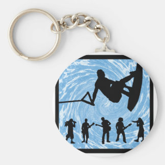Wakeboard the Convection Basic Round Button Key Ring