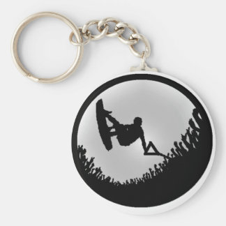 Wakeboard The MAIN Basic Round Button Key Ring