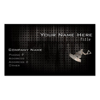 Wakeboarder; Cool Black Pack Of Standard Business Cards