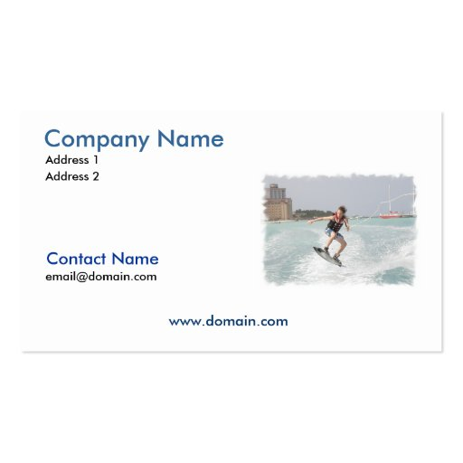 Wakeboarder Jumping Business Card