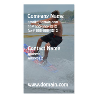 Wakeboarder Letting Go Pack Of Standard Business Cards
